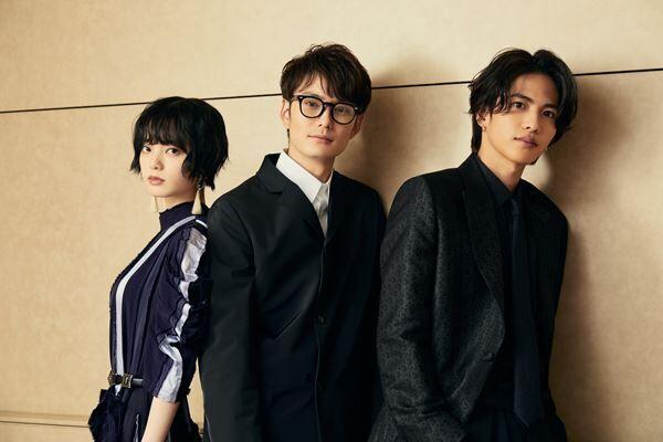 (左から)平手友梨奈、岡田将生、志尊淳 撮影:稲澤朝博