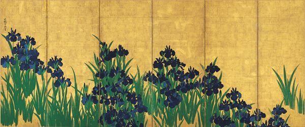 尾形光琳≪燕子花図屏風≫公開! 根津美術館にて『国宝 燕子花図屏風 -色彩の誘惑-』を開催