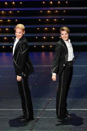 OSK日本歌劇団「レビュー春のおどり」(左)桐生麻耶 / (右)楊琳(次期トップスター)
