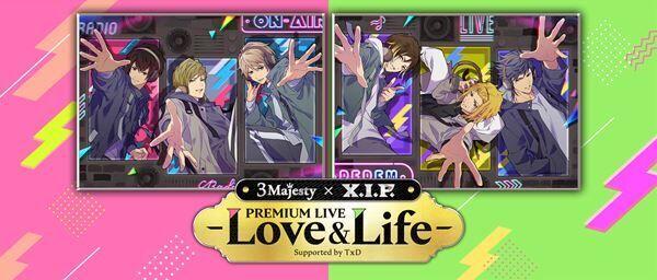 『3 Majesty × X.I.P. PREMIUM LIVE -Love&Life- Supported by TxD』 (c)Konami Digital Entertainment (c)コーエーテクモゲームス