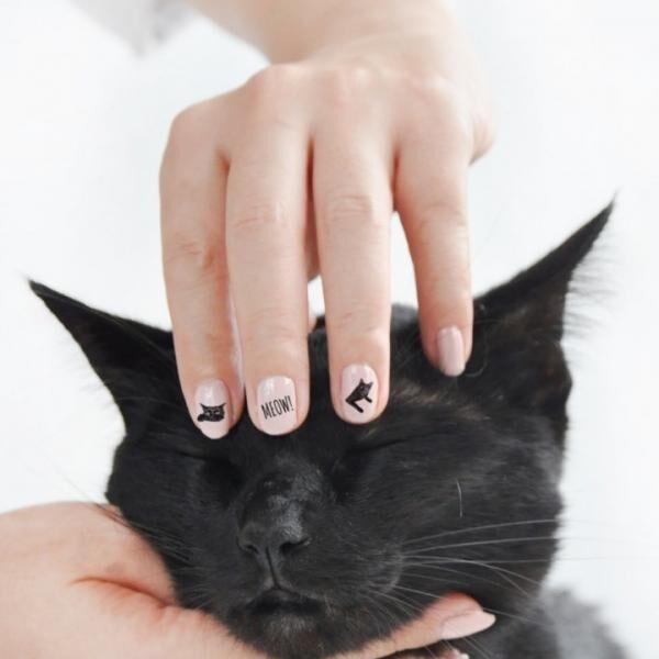 1匹のクロネコが猫仲間を救う!保護猫支援のネイルシールが新登場