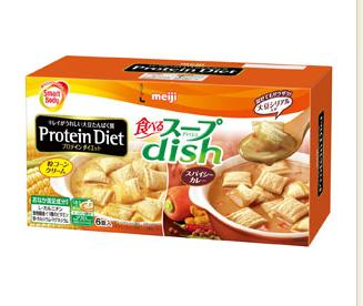 ザクザク食感で満足!明治、ダイエットサポートスープ発売