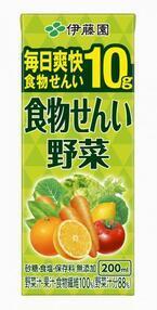 ジュースで体スッキリ!「食物せんい野菜」新発売/伊藤園