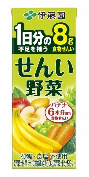 食物せんい不足を補う「せんい野菜」、伊藤園から新発売