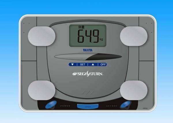 これぞ遊び心の塊!タニタ「セガサターン」を忠実再現した体組成計を発売