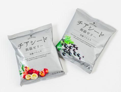 チアシード・コンニャク・発酵の3効果が一度に摂れる蒟蒻ゼリー