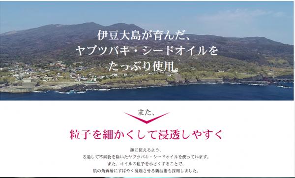 伊豆大島からの潤い「潤い椿」