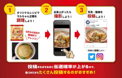 男たちの即席袋麺レシピコンテスト「マルちゃん正麺 天下一決定戦」チャチャッと開催!