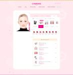 「CANMAKE」のオンラインページでバーチャルメイクができる