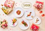 SABONの世界観を表現。華やかでおいしいバレンタインディナーコースが登場!