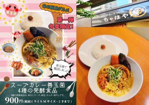 温活で健康に!『スープカレー善玉菌~4種の発酵食品~』