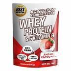6種のビタミンB配合でたんぱく質を効率良く吸収!国内製造のプロテイン新発売