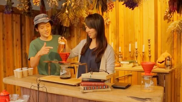 「星野リゾート リゾナーレ熱海」の森で楽しむ、コーヒーの焙煎体験