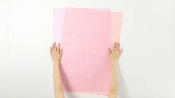 自分で出来るラッピング術! カンタン華やかな「不織布フラワー包み」