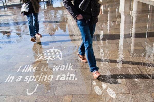 雨の日にしか見れない!?フォトジェニックアートが横浜に登場