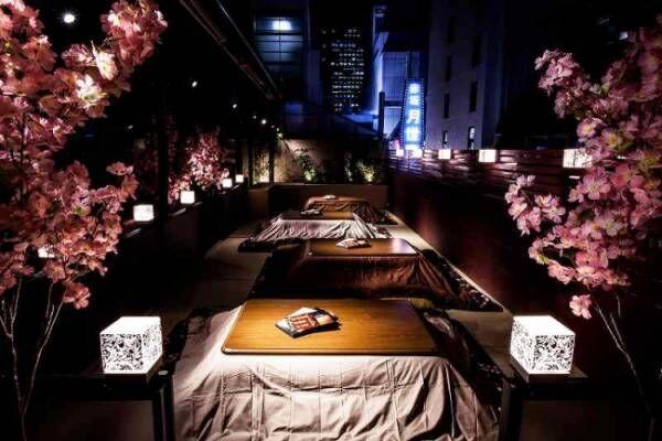 4月8日まで!夜桜を楽しめる「こたつテラス」が登場