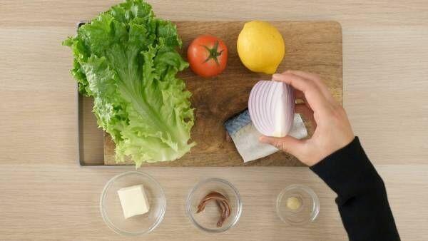簡単!旬の「秋サバ」で作るクリームチーズのボリュームサンドのレシピ