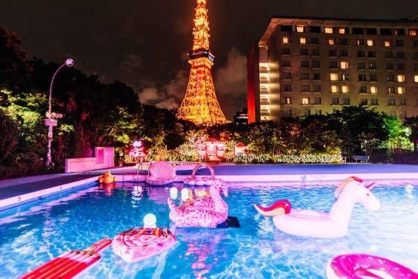 """都会に""""ゆめかわ""""空間が出現!「CanCamナイトプール in 東京プリンスホテル」"""
