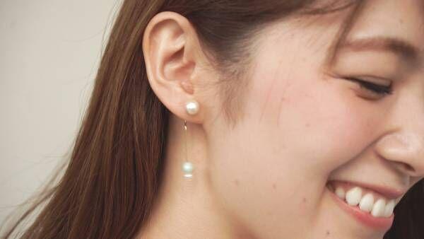 耳元に上品な存在感を。華やか「コットンパールピアス」の作り方