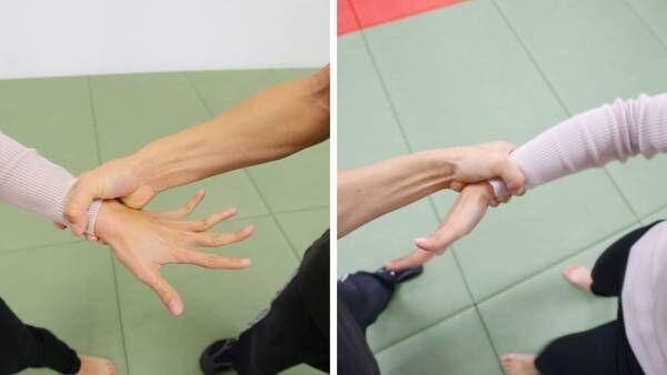 目の前から両手を掴まれた時の護身術