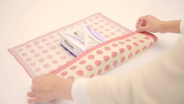 インテリアも風呂敷で!「ティッシュボックス包み」の包み方