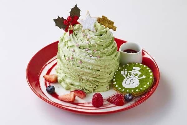 パンケーキ専門店「Butter」抹茶クリームたっぷりのクリスマスパンケーキ