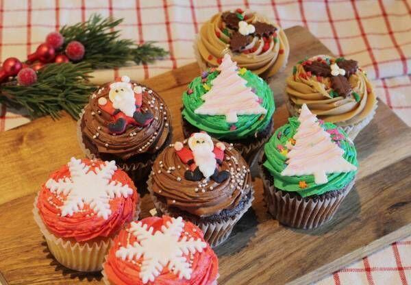 「ローラズ・カップケーキ」の可愛すぎるクリスマスデコレーションカップケーキ