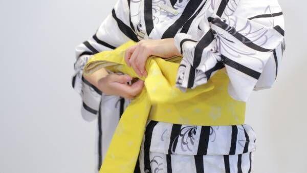 実は簡単! 浴衣の帯の結び方「文庫結び」