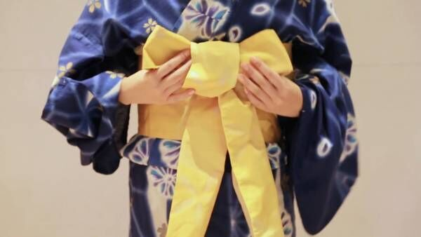 浴衣の帯を簡単でおしゃれな「リボン返し」にアレンジする結び方