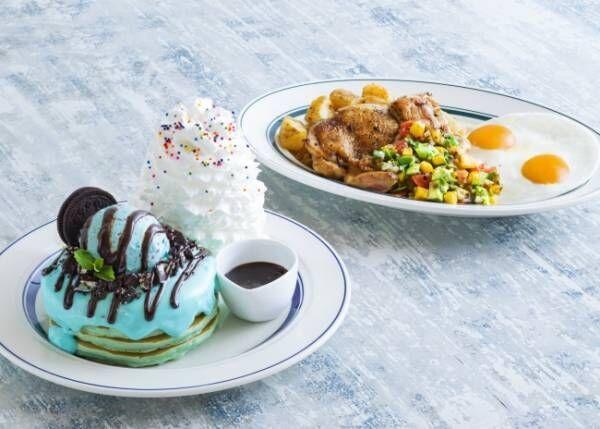 Eggs 'n Things『原宿チョコミントパンケーキ』・『マンゴーサルサチキン&エッグス』の販売を国内全店舗開始!