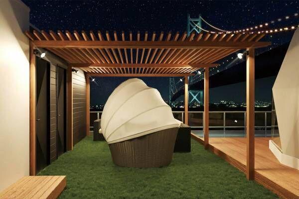 日本初の屋上ドーム型グランピング施設「淡路島グランピングビーチヴィラ漣」オープン!