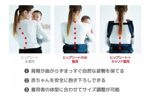 負担の少ないお座り型の抱っこひも「BABY&Me」にドット柄の新色が登場!