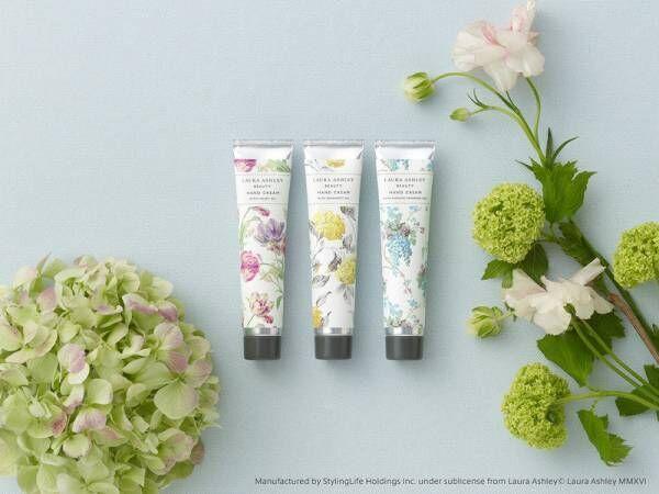 『ローラ アシュレイ ビューティ』ハンドクリームから、イギリスの花々を想わせる新しい香りが新登場