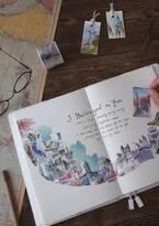 【ヴィレヴァンオンライン】貼るだけで世界が広がる! 世界の18カ国のシンボルや街の風景が水彩画風に描かれたマステ登場♪