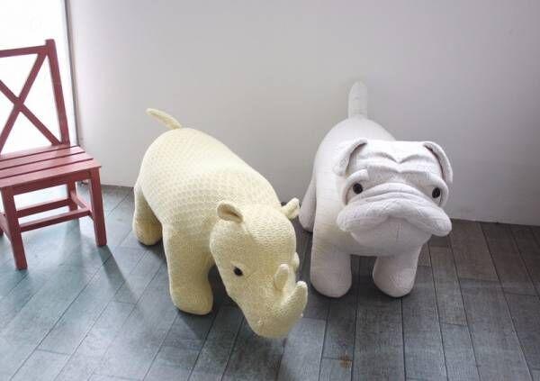 ギュッとしたくなる肌触り♪ 動物の椅子「Dreamy Day アニマルスツール」で、部屋を大人も子どもも楽しい空間に!