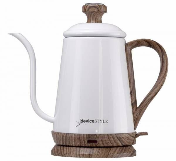 コーヒーメーカーのデバイスタイルからアナログ式温度計付電気ケトル『KA-800C』が11/1より登場♪