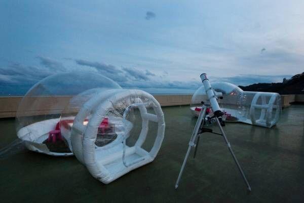 スケルトンテントで星空鑑賞!? 波の音を聞きながら楽しめる天然プラネタリウム