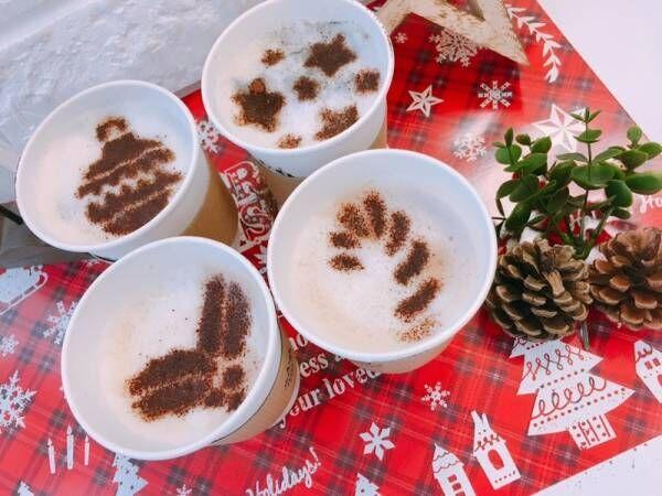 【ナチュラルキッチン アンド】おうちで簡単に作れちゃう♪クリスマス柄ラテアート