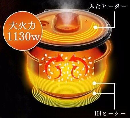31銘柄炊き分け!! IHの大火力! 最適な火加減や時間を自動でコントロールする『銘柄炊き IHジャー炊飯器 5.5合』