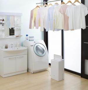 1日最大8.3L除湿! 夏は湿気対策・冬は結露防止・衣類の室内干しにも1年中大活躍の「衣類乾燥除湿機 コンプレッサー式」