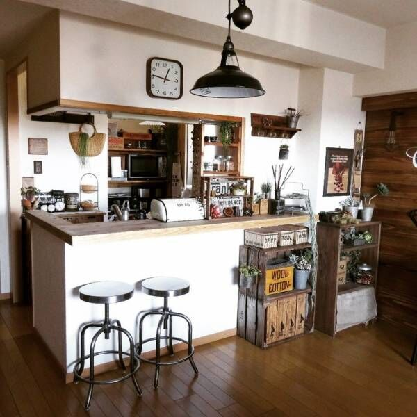 キッチンカウンターをDIYしよう!作り方やカフェ風リメイクアイデアもご紹介