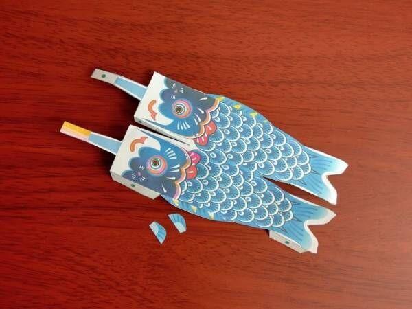不器用さんでもできる!無料ダウンロードで作るペーパークラフトのインドア鯉のぼり