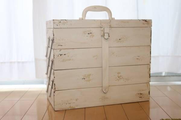 やっと見つけたフレンチシャビーな工具箱!DIYのモチベが上がる可愛いルックスと使い勝手をレビュー。