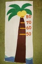 【ハンドメイド身長計】バスタオルとフェルトで赤ちゃん用のかわいいスケールを手作りしてみました♪