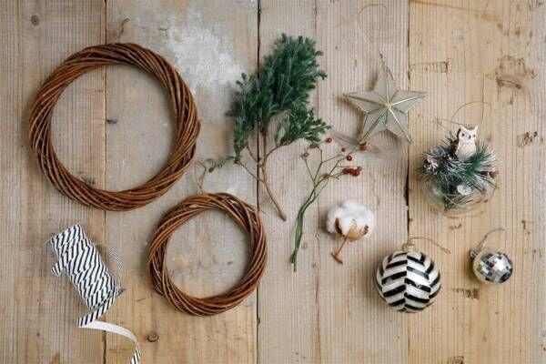 インテリアスタイリストさかのさん流・3ステップ季節の飾り♪100均素材でできるクリスマスリース2種