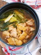 【今日のごはん】10分煮込むだけ!鶏ネギ甘辛鍋で温まろう♪(2018/12/07)