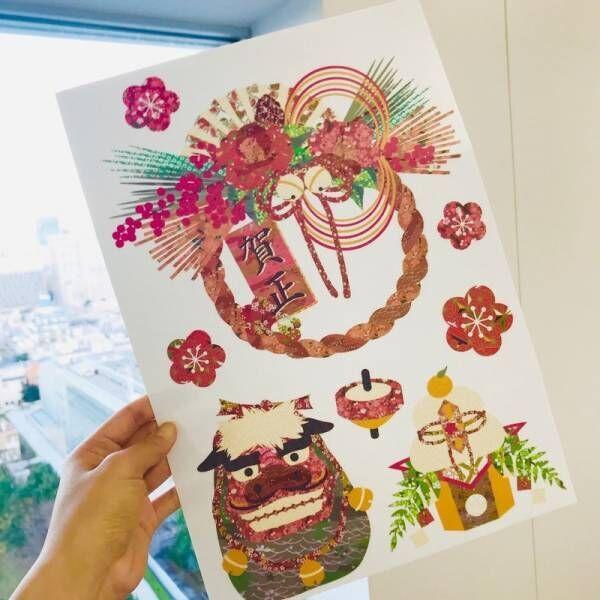 【セリア】もうすぐ新年!和柄デザインのステッカーでお正月気分を楽しんでみてはいかが♡