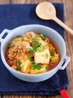 【今日のごはん】お鍋で煮るだけ5分!ピリ辛おいしい「豆腐と春雨のチゲ風そぼろ煮」(2018/12/28)