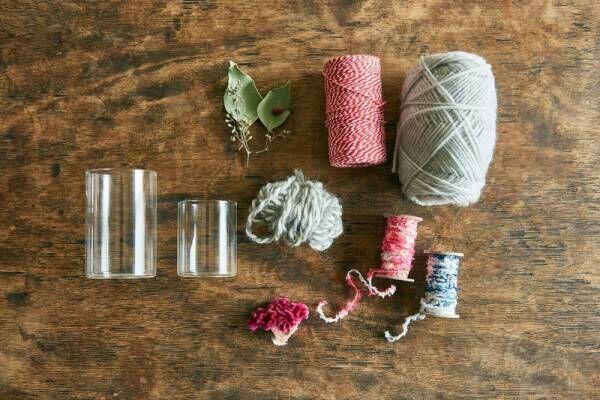 毛糸を巻くだけ!簡単&おしゃれグラスホルダーを作ろう!インテリアスタイリストさかのさん流・3ステップ季節の飾り