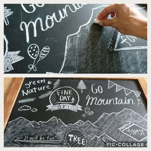塗るだけでおしゃれになると大人気の黒板塗料!みんなはどんな風に使ってる?